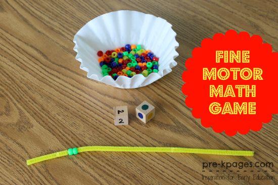 Fine Motor Math Game for Preschool
