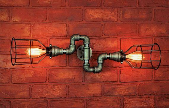 Industrial Lighting Steampunk Chandelier Light Loft Art Electric Wall Sconce Lihgting Steampunk