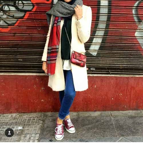 Winter colorful coats with hijab – Just Trendy Girls