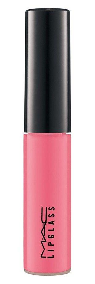 Playful pink lip gloss with glass-like shine