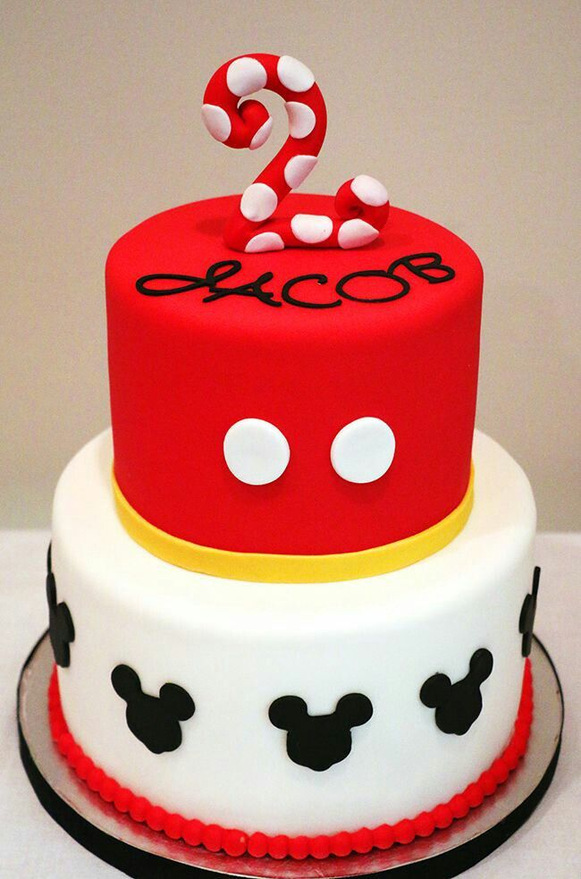 Best Cakes Mickey Mouse Clubhouse Images On Pinterest - Mickey birthday cake ideas