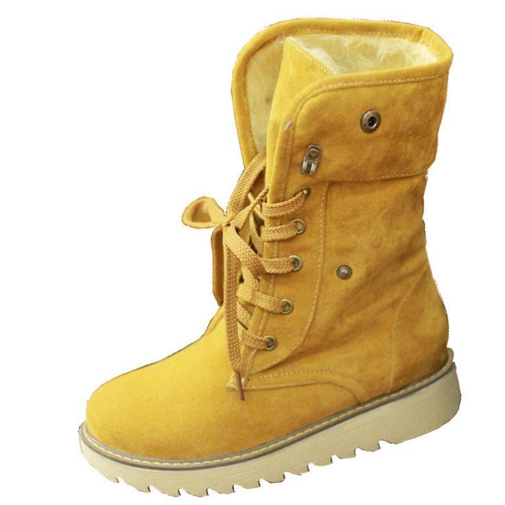 Günstige Große größe 34 43 Mode Winter Stiefel Vintage Lace Up Rubber sohle Plattform Schuhe Warm Halten Pelz Schuhe Frau Med wade Schnee stiefel, Kaufe Qualität Schnee Stiefel direkt vom China-Lieferanten: aufmerksamkeit Pls:1. Pls lesen sie die folgt beachten sie, bevor sie den auftrag vergeben und wählen sie die größe nach