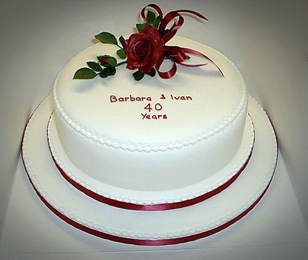Simple Romantic Wedding Ideas: 16 Best Romantic Anniversary Cake Ideas Images On