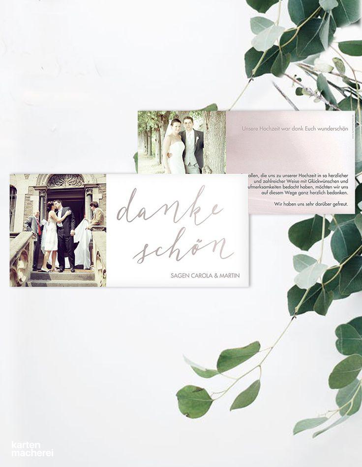 Mejores 50 o más imágenes de Hochzeit | Dankeskarten en Pinterest