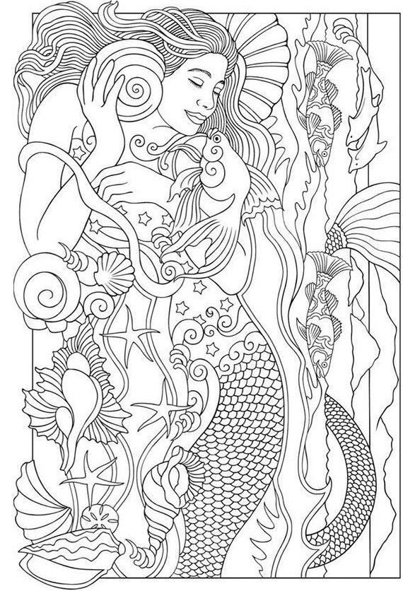 5 Mermaid Coloring Pages For Adults Beautiful Mermaid Coloring Page Mermaid Coloring Mermaid Coloring Pages Realistic Mermaid