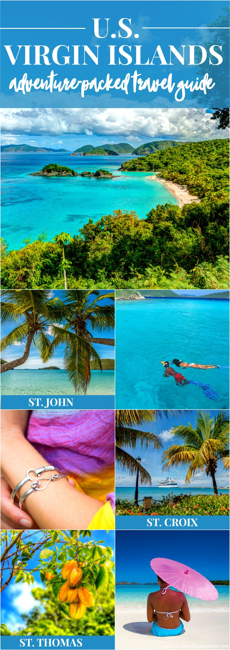 Helpful guide to Caribbean island-hopping in the U.S. Virgin Islands! If you're an adventure seeker, this list of fun things to do in St. John, St. Croix, and St. Thomas is perfect for you | Adventure (Fun Travel Ideas)