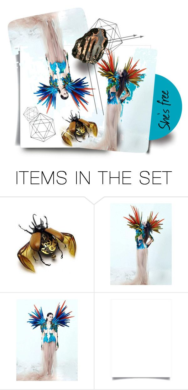 """""""She's free"""" by eccentrica-pv ❤ liked on Polyvore featuring art"""
