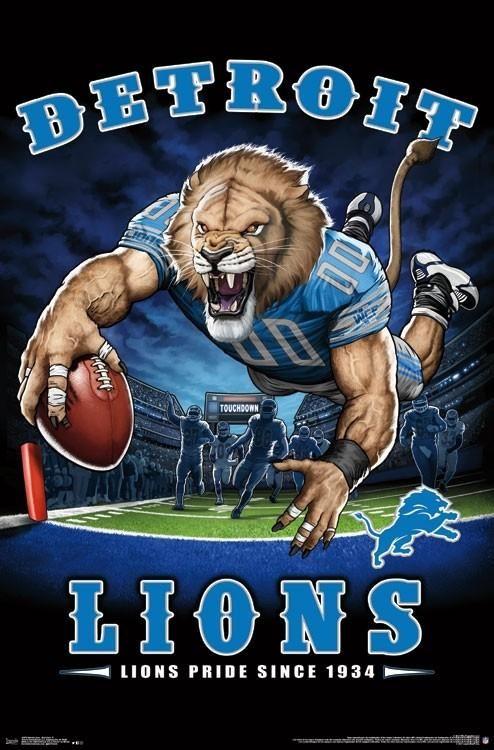 """Detroit Lions """"Lions Pride Since 1934"""" NFL Theme Art"""