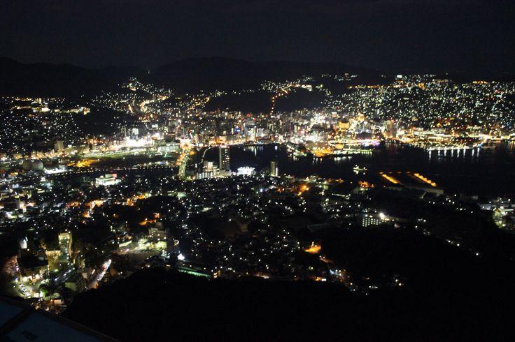 night view 世界三代夜景 稲佐山