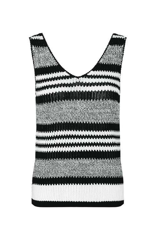 Modern Stripe Vest