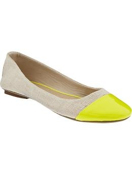These ballet flats add a pop of color for the spring. $22.94