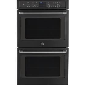 ge cafe self cleaning convection double electric wall oven black slate common - Slate Cafe Ideas