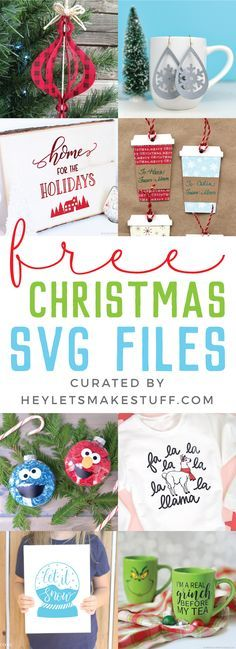 Get ready for Christmas with these Christmas projects! Free SVG files to help you get in the Christmas spirit and make your holiday season merry and bright.