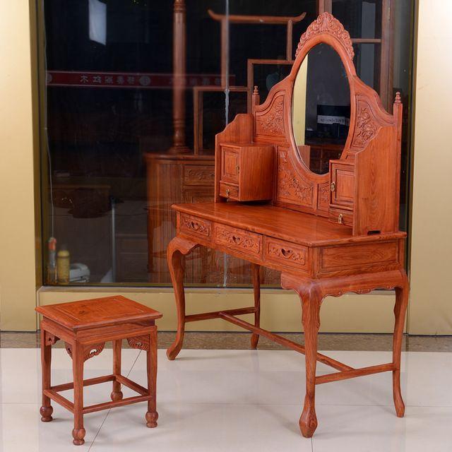 Африканский палисандр красного дерева комод классический мин и цин мебель из красного дерева туалетный столик зеркало туалетные столики