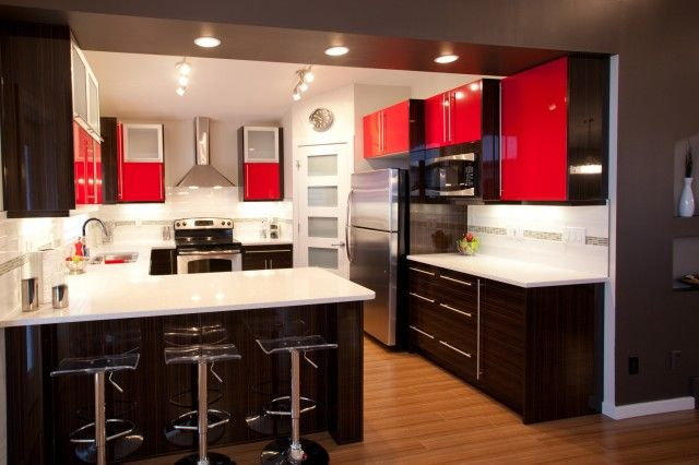 Modern g shaped kitchen looks like peninsula wall is for G shape kitchen