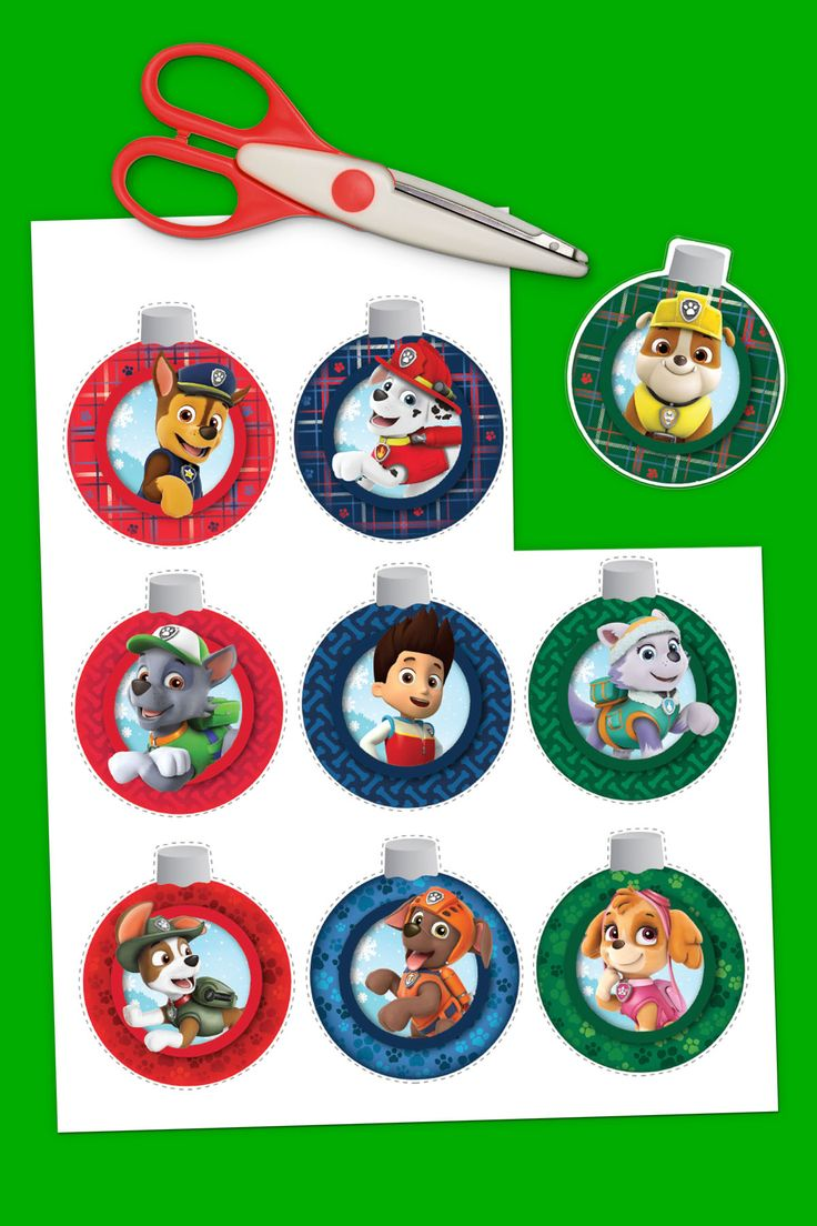 PAW Patrol Printable Ornaments