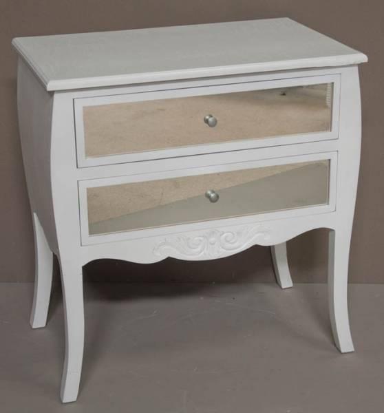 Dresser 2 Drawers with Mirror 85 x 80 x 50 White Wash F1952 R