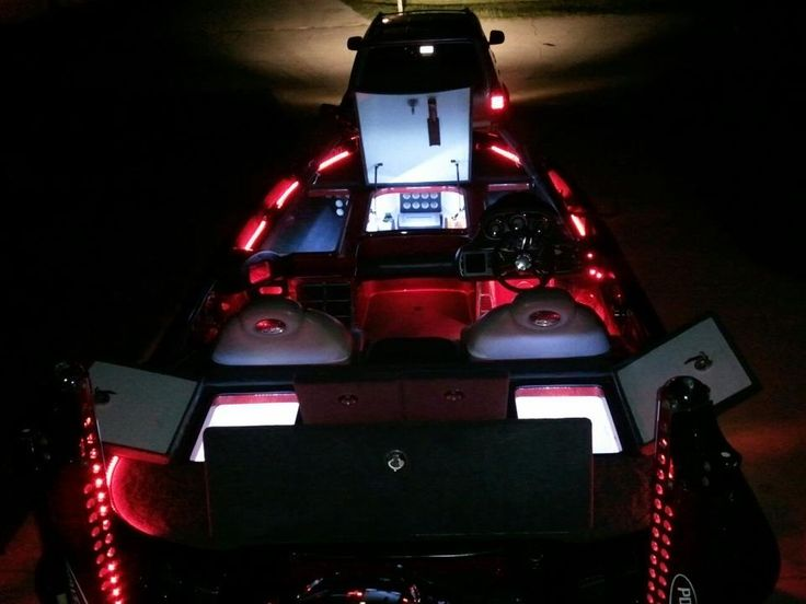 blue water led lighting on a bass boat - 1 available at www.waykul, Reel Combo