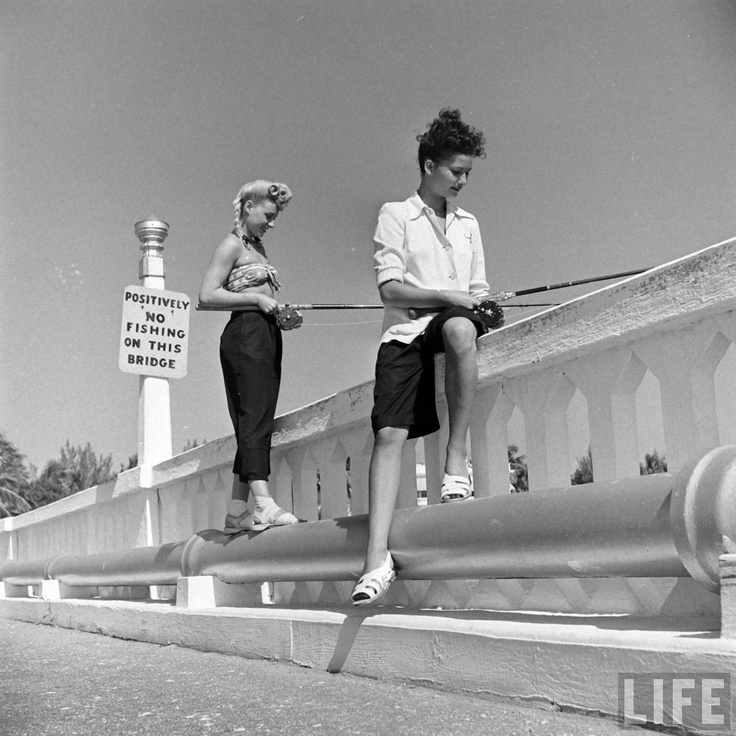 Stellar hairstyle on the girl on the right.: Life Magazines Photo, Victory Rolls, Vintage Wardrobe, Victorious Rolls, Fishing, Vintage Life, The One, Vintage Style, Girls Hair