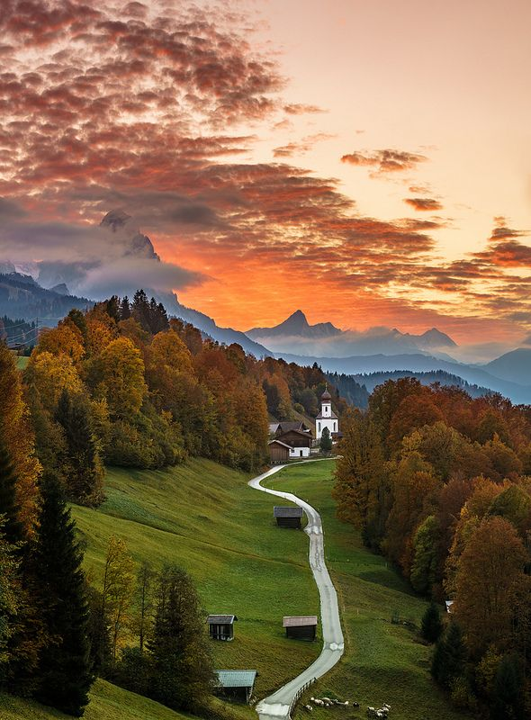Bavarian Sunset Achim Thomae Flickr