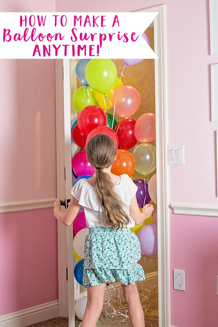 How to Make a Birthday Balloon Surprise! (DIY Balloon Avalanche)