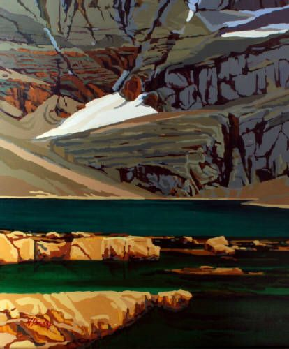 "WJ Bradley CONTEMPLATION, LAKE OESA / Canada House Gallery - oil, board 30"" x 24"""