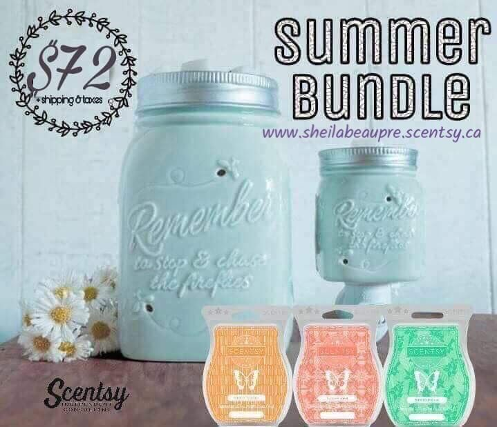 """Capture the essence of carefree, playful summer evenings. This pale-blue hand-painted warmer mimics a glass canning jar, complete with a silver ring and """"filled"""" with fireflies."""