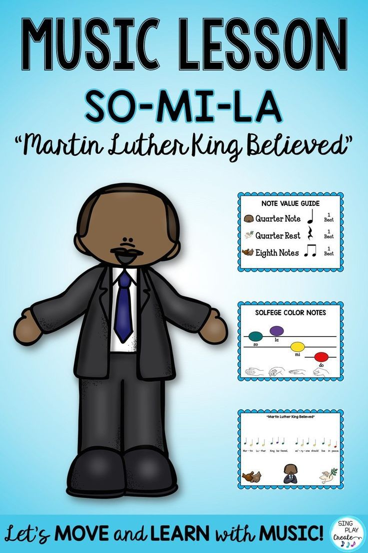Music Lesson Martin Luther King Believed Song Ostinato So Mi La Music Lessons Believe Song Elementary Music