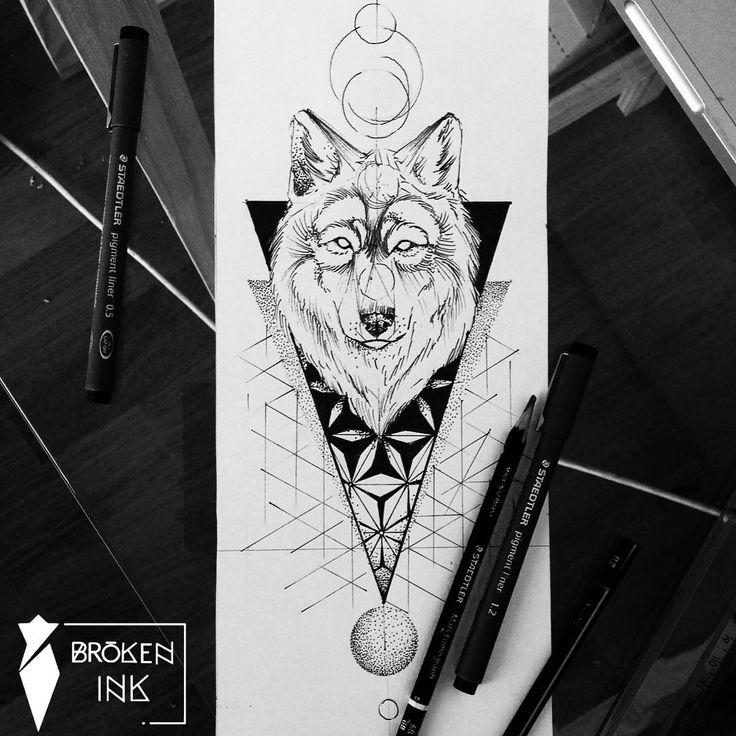 """328 Likes, 7 Comments - BROKEN INK (@broken_tattoo) on Instagram: """"- Homo homini lupus. (O homem é o lobo do homem.) // disponível 27 cm R$720 ideal para fechamento…"""""""