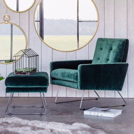 Seattle Armchair and Footstool - Armchairs - Seating - Sofas & Seating