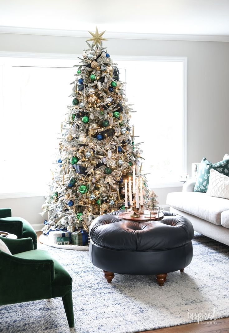 Inspired By Charm With Michael Wurm Jr Inspiredbycharm On Pinterest Christmas Decorations Living Room Green Christmas Tree Green Christmas