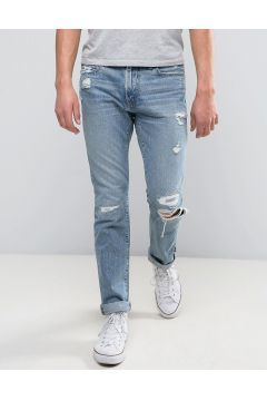 Abercrombie & Fitch Skinny Jean In Light Distressed Wash With Rips - Blue #modasto #giyim #erkek https://modasto.com/abercrombie-fitch/erkek/br21370ct59