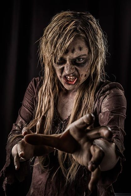 Katie Saariko is the amazingly talented artist behind the makeup for this Zombie (Me) and Doug hall is the equally talented photographer