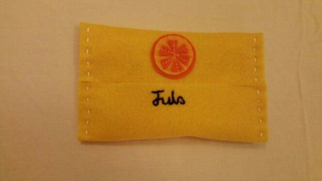 Felt tissue pouch - Orange