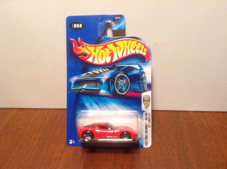 Hot Wheels C6 Corvette #58 2004 First Editions Red Chevrolet 50 Cent Comb Ship #HotWheels #Chevrolet