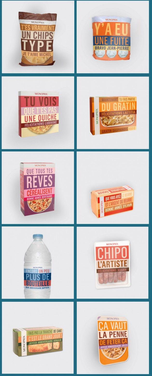 Campagne Monop : personnalisation d'emballage via appli Facebook. Pari digital et interactif réussi !