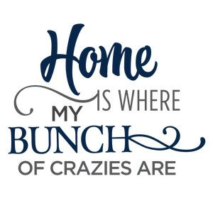 Silhouette Design Store: home is where my bunch of crazies phrase
