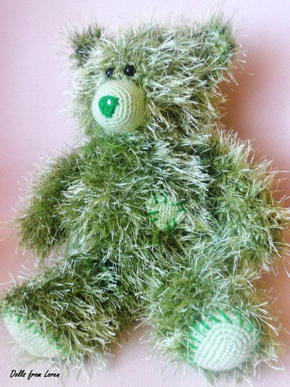Green Hand knitted Teddy Bear  by LorensDolls on Etsy  #Bears  #Handknitted  #TeddyBear  #knitted   #knitting #stuffedbear  #knittedtoys  #beargift  #handknittedtoy  #handmadegift  #birthdaygift  #uniquegift  #LorensDolls