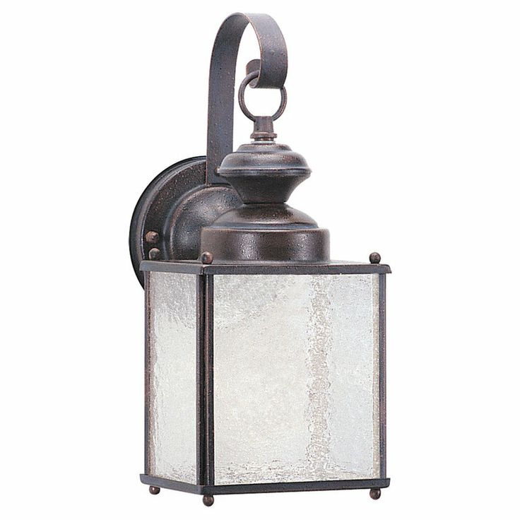 Sea Gull Lighting 8981PBLE Compact Fluorescent Energy Star Wall Lantern  From The Jamestowne Collection With Frosted