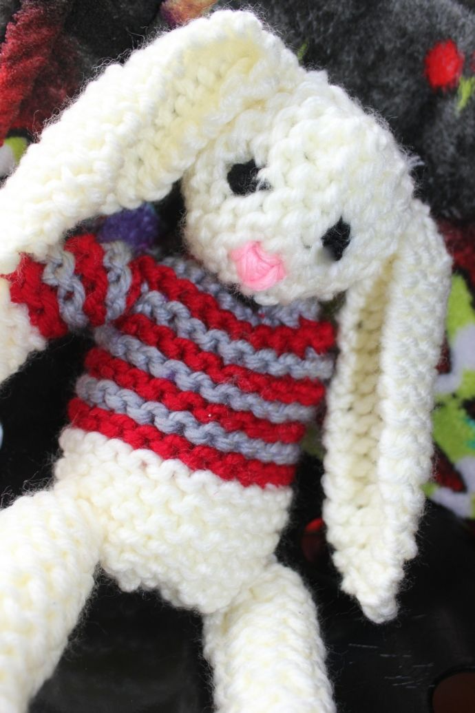 Loom knitted bunny toy by Andre G.