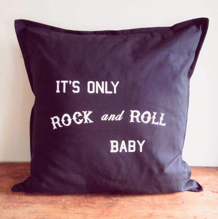for the wanderer in all of us ... the slogan 'it's only rock and roll baby' in white text ... designed by us and then printed by us in our home studio on solid black cotton cushion covers with a zip ... these measure 50 x 50 cm ( 20 x 20 inches) .. you are purchasing the cover only..  inspired by vintage, rock n roll, adventurers and wanderers ... we designed our tees and homewares for those of us who yearn to learn, travel and adventure ....  make every day an adventure.. take the long ...
