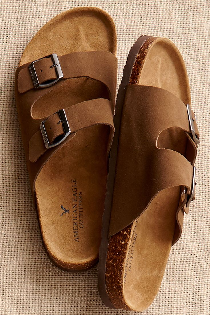 Find your footing with our Double Buckle Suede Sandal.