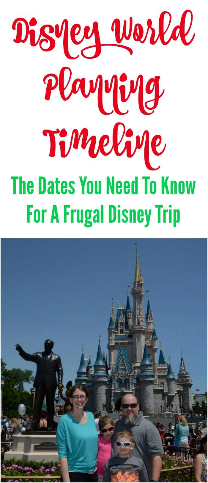 Disney World Planning Timeline: The Dates You Need To Know For A Frugal Disney Vacation