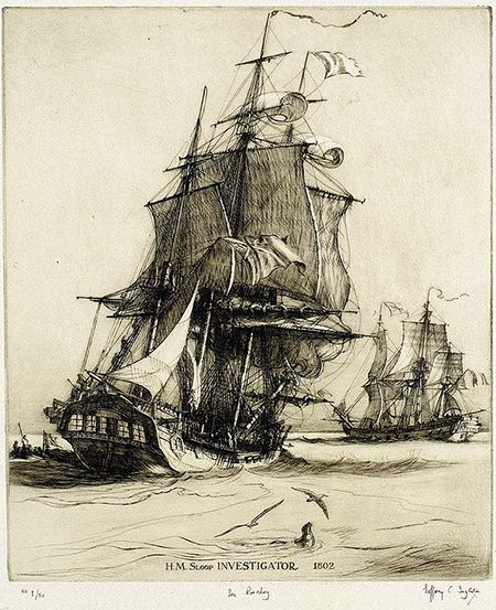 HM Sloop Investigator was a survey ship of the Royal Navy. In 1802, under the command of Matthew Flinders, she was the first ship to circumnavigate Australia.