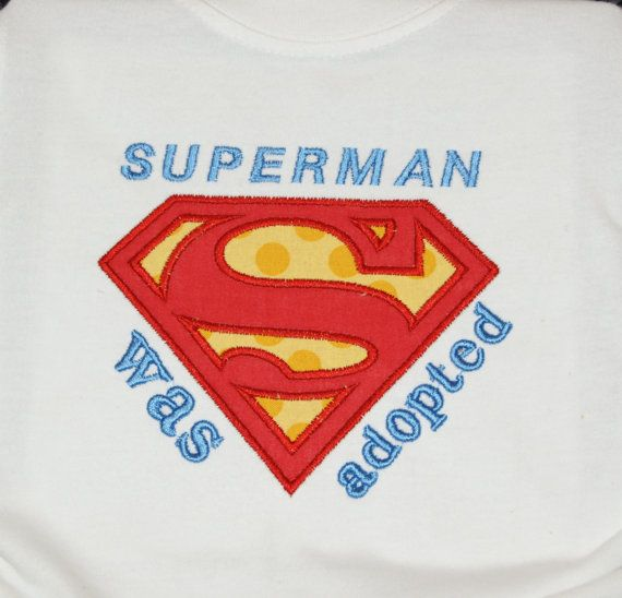 Super man Adopted shirt or onesie by sewwhimzy on Etsy, $20.00