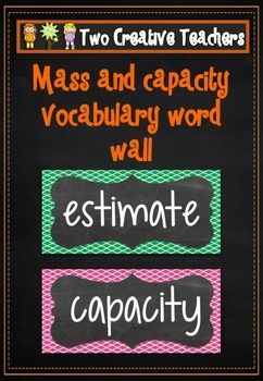This product contains 47 quarterfoil themed vocabulary cards. The cards are based on mass and capacity and also includes the American and English spelling of certain words. These cards can be displayed around the classroom. They can be given to students to define or discuss the meaning of with a peer. Students can be encouraged to use as many of these words as they can and place their initials next to each word when completed.  #twocreativeteachers