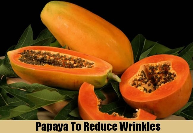 Wrinkle free remedies: Mash a ripe papaya and apply the pulp to the face and neck after drying wash face with water, please do not use soap to clean. Papaya tightens the skin and makes you wrinkles free. The essential vitamins found in papaya help keep the skin smooth and unlined. For more tips visit us.