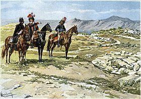 Reconnaissance avant la bataille de Nicopolis: Richemont, Chabot et un aide de camp. Aquarelle de Felician Myrbach, 1894.Louis François Jean Chabot, né le 27 avril 1757 à Niort et mort le 11 mars 1837 à Sansais, dans les Deux-Sèvres, est un général français de la Révolution et de l'Empire.