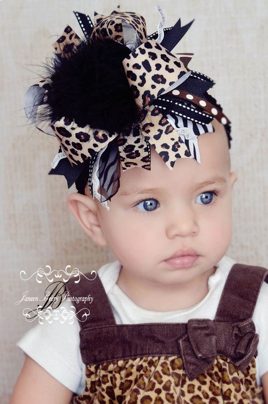 Leopard Print Hair Bow | How Do It Info ★ DiamondB! Pinned ★