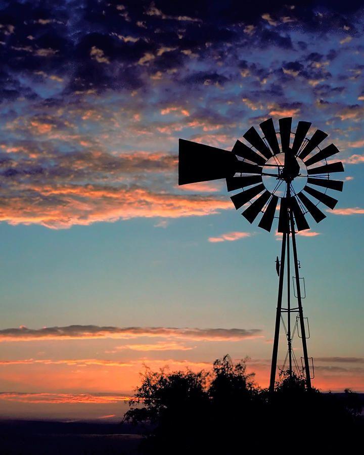 Windmill At Dawn Photograph by David and Carol Kelly